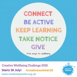 Are you taking part in our Creative Wellbeing Challenge this Summer?