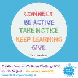 Sign up to join our Creative Wellbeing Challenge this Summer!