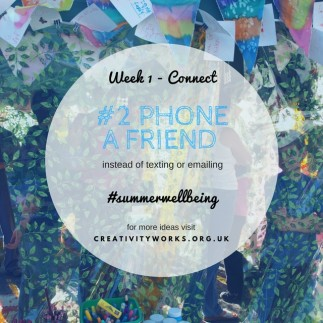 Summer Wellbeing challenge - connect - phone