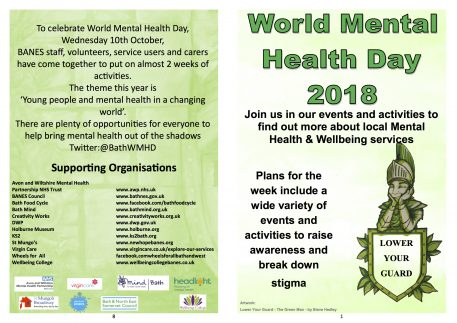 What's on – World Mental Health Day 2018