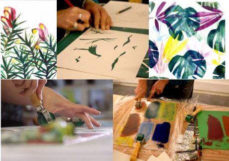Print making for Christmas Workshops