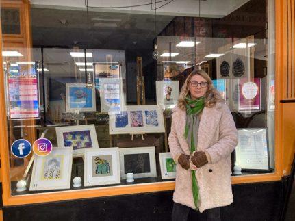Fresh Art@ Shop Window Exhibition in Bath